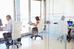 Group of people working in a modern office Royalty Free Stock Photos