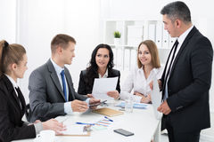 Group of people working in office Royalty Free Stock Photography
