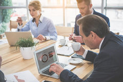 Group of people is working at the office royalty free stock photography