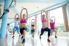 Group of  people working out in a fitness gym Royalty Free Stock Photo