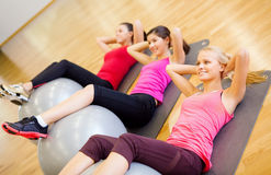 Group of people working out in pilates class Stock Photography