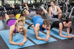 Group of people working their abs Stock Image