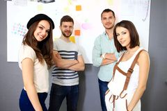 Group of People Working Together Stock Images