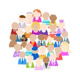 Group of people for your design Stock Images