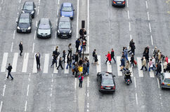 Group of people on zebra crossing Stock Image