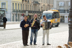 Group perform on street Royalty Free Stock Photos