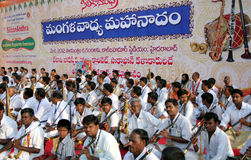 Group performance of indian traditional music stock images