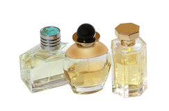 Group of perfume bottles Royalty Free Stock Images