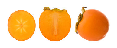 Group of persimmon fruits Stock Image