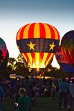 Group of Person in Hot Air Balloon Event royalty free stock image