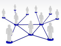 Group person on network. Communications Stock Photo