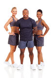 Group personal trainers. Smiling group of personal trainers on white background Stock Photography