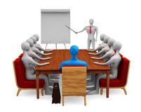 Group of persons on the marketing meeting Royalty Free Stock Image