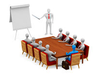 Group of persons on the meeting Stock Images