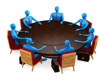 Group of persons on the meeting Royalty Free Stock Photography