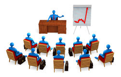 Group of persons on the meeting Stock Image
