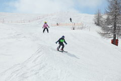 Skiing group Royalty Free Stock Images