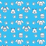 Group of pets pattern royalty free illustration