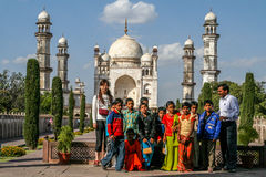 Group phot at tourist attraction Stock Image
