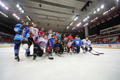 Group photo of players Royalty Free Stock Photos
