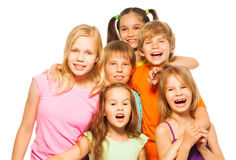 Group photo of six children Royalty Free Stock Photo