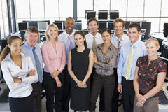 Group Photo Of Stock Traders Team. Smiling Stock Images