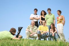 Group is photographed Royalty Free Stock Image