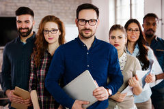 Group picture of team of successful and confident designers royalty free stock image