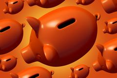 Group of Piggy Banks Stock Image