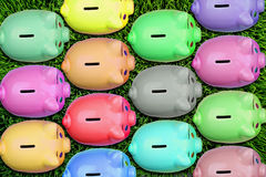 Group of Piggybanks. Royalty Free Stock Photo