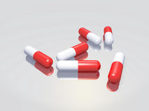 Group of pills Royalty Free Stock Image