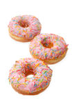 Group of pink donuts Royalty Free Stock Photos