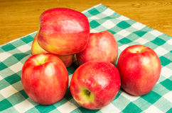 Group of Pink Lady apples Stock Photo