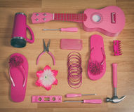 Group of pink objects Stock Photo