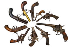 Group pistols. A group of ancient pistols Stock Photo