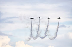 Group of planes during the display Royalty Free Stock Photo