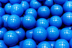 Group of plastic blue balls, background image Stock Photos