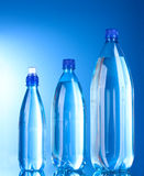 Group plastic bottles of water Royalty Free Stock Image