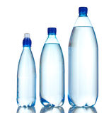 Group plastic bottles of water Stock Photos