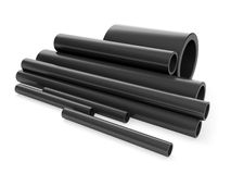 A group of plastic pipes Stock Photos