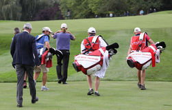 Group of players at the Seve Trophy 2013 Stock Images