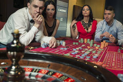 Group Playing Roulette Stock Images