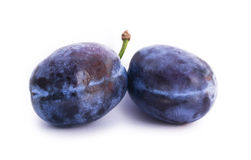Group of plums. On a white background Royalty Free Stock Photography