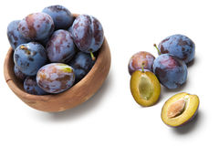 Group of plums Royalty Free Stock Images