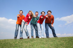 Group point you Stock Photography
