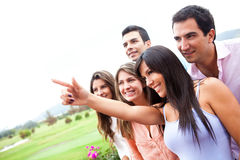 Group pointing Stock Photography
