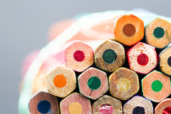 Group of pointless colored pencils Royalty Free Stock Image