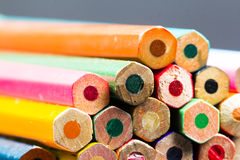 Group of pointless colored pencils Royalty Free Stock Photos
