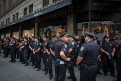 Group of policemen on the streets of New York Stock Photography