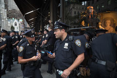 Group of policemen on the streets of New York Royalty Free Stock Image